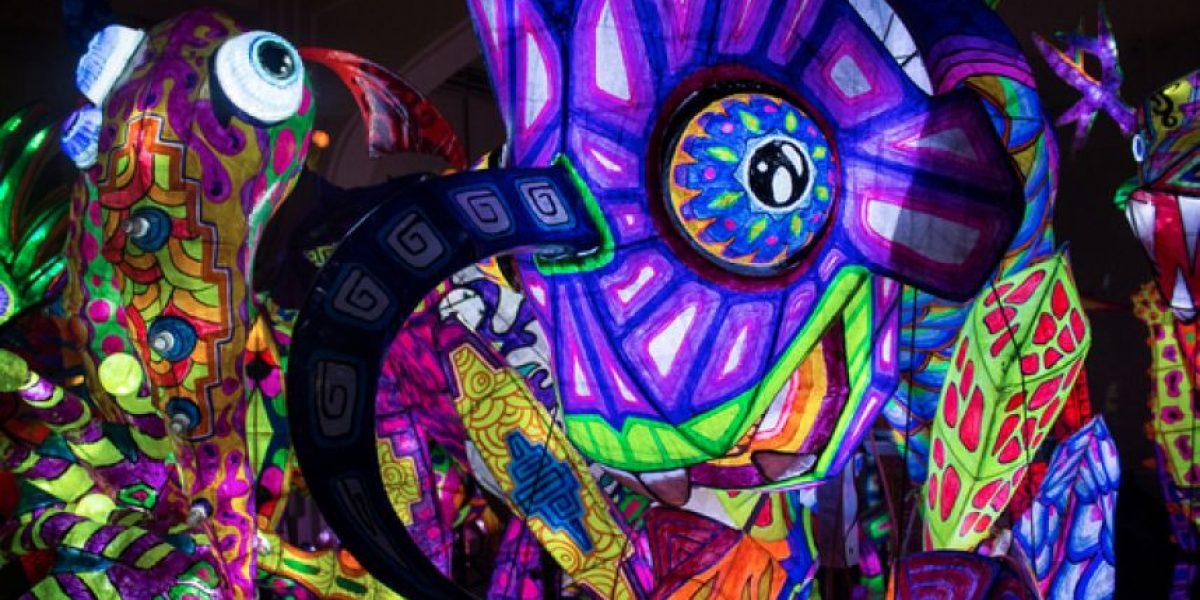 Visita a los alebrijes iluminados del Museo de Arte Popular