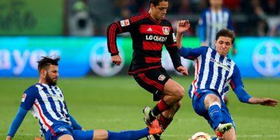 Javier Hernández salió de cambio al minuto 90 de tiempo corrido. Foto:Getty Images
