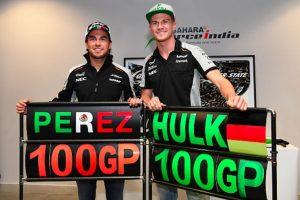 Sergio Pérez terminó noveno en el Gran Premio número 100 de su carrera. Foto:Getty Images