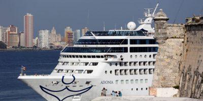 """El buque """"Adonia"""", de la compañía Fathom, filial de la empresa Carnival Foto:EFE"""