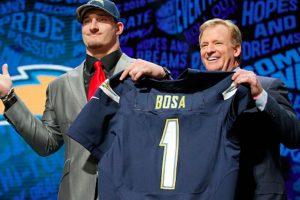 Joe Bosa, tercera selección global del año. Foto:Getty Images