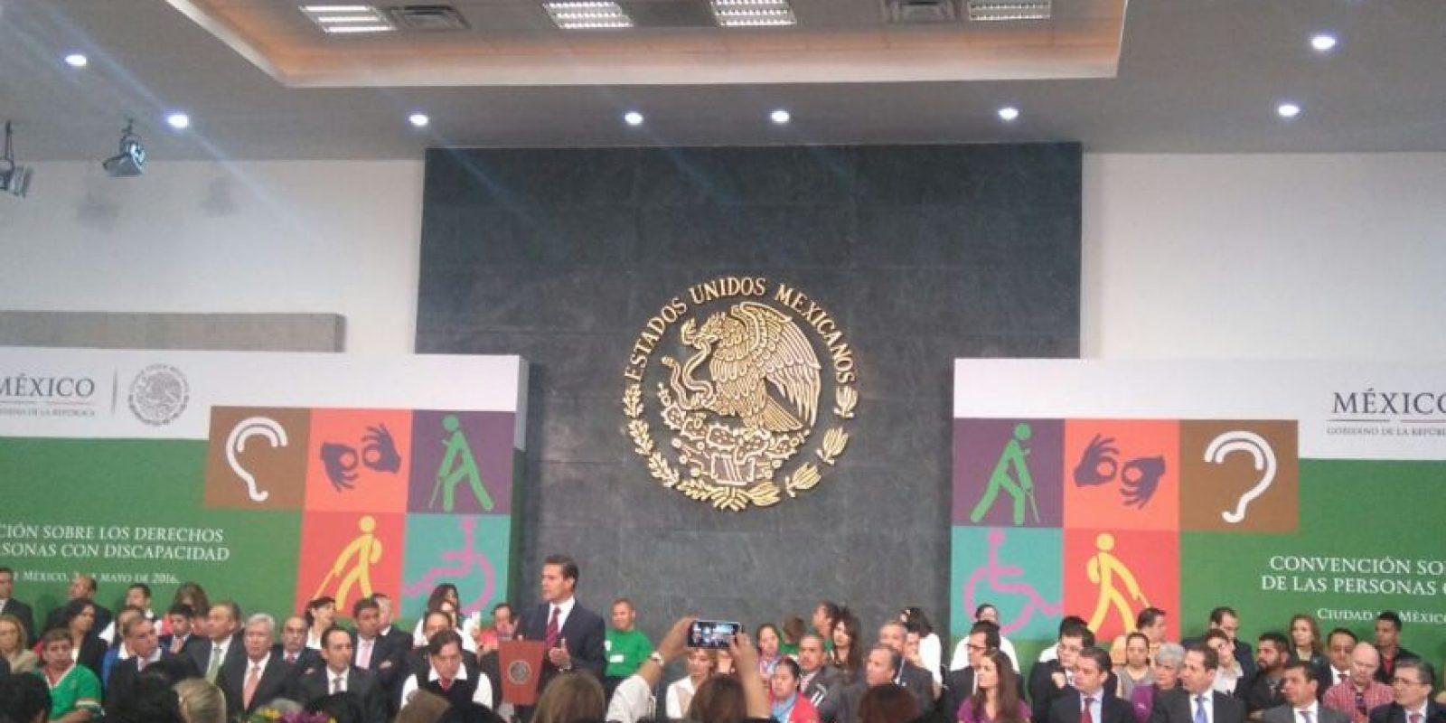 El presidente estuvo en la instalación del Sistema Nacional para la Inclusión y Desarrollo de Personas con Discapacidad Foto:Valentina González