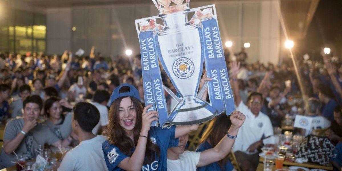 VIDEO: Así celebra el Leicester su primer título