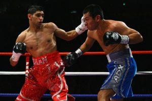 A Khan lo conocimos en 2009 cuando enfrentó a Marco Antonio Barrera. Foto:Getty Images