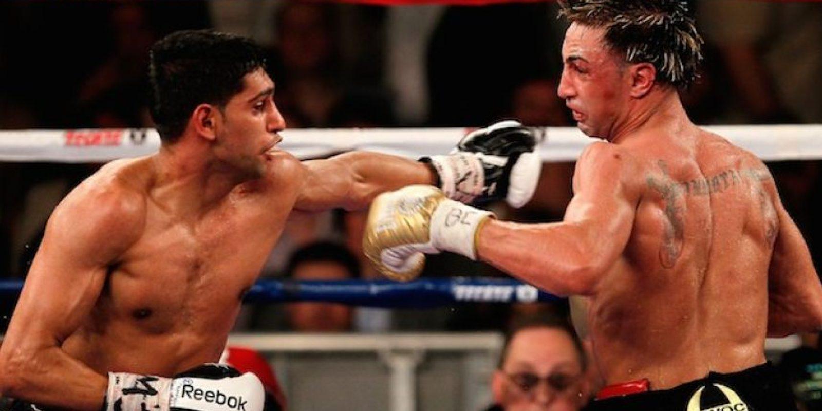 Su primera pelea en Estados Unidos fue ante Paul Malignaggi. Foto:Getty Images