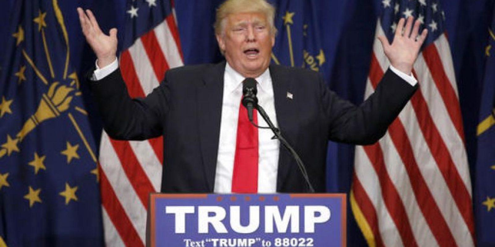 Del Partido Republicano a la cabeza sigue Donald Trump. Foto:AP