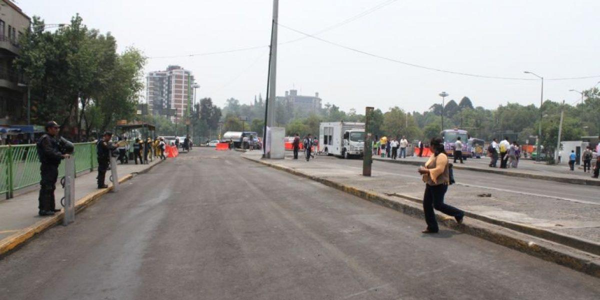 FOTOS: Paradero de Metro Chapultepec, libre de ambulantes tras operativo