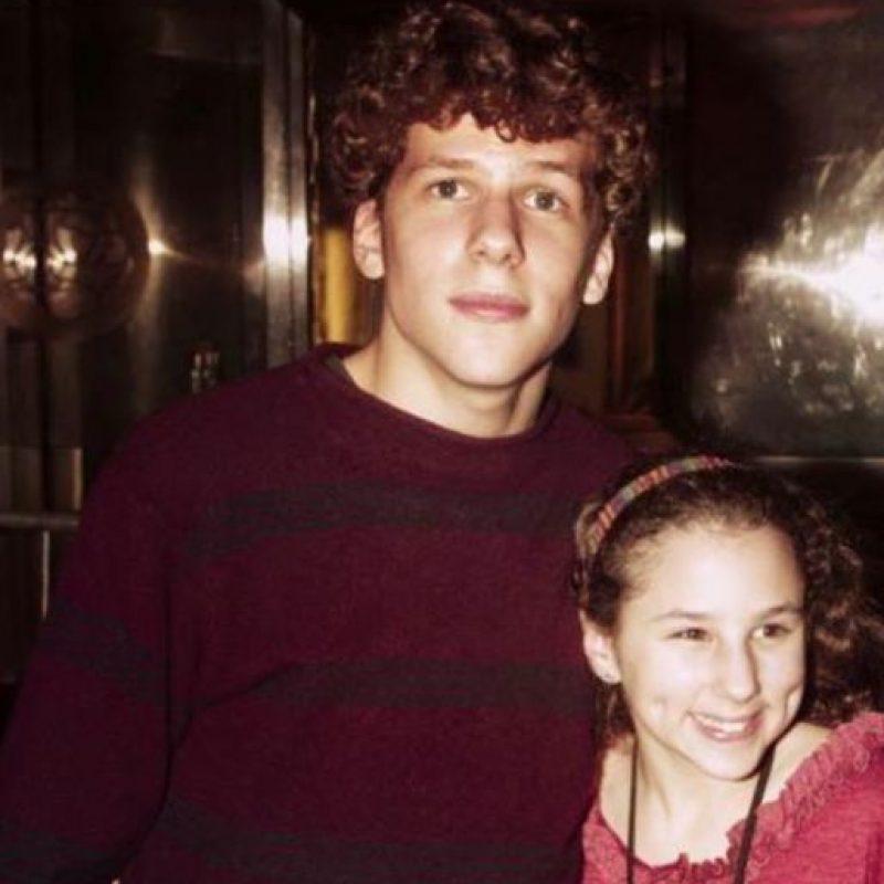 Ella fue interpretada por la hermana menor de Jesse Eisenberg. Foto:vía Facebook/ Hallie Kate Eisenberg