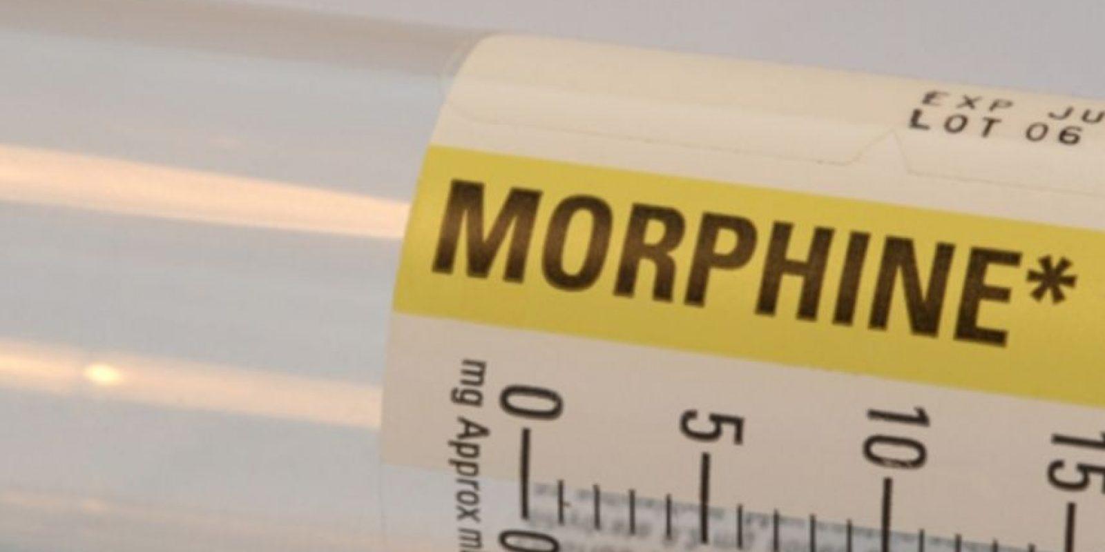 La morfina es una potente droga opiácea usada frecuentemente en medicina como analgésico. Foto:Wikipedia
