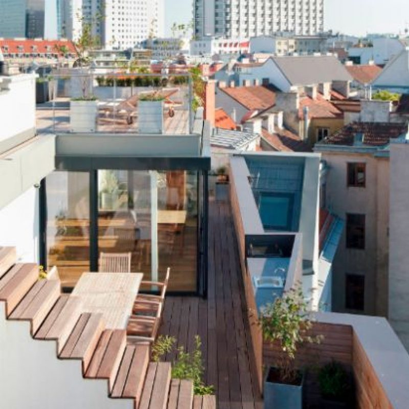 Diseño por: T-HOCH-N ARCHITEKTUR Foto:https://www.homify.com.mx/fotografia/800907/penthouse-p