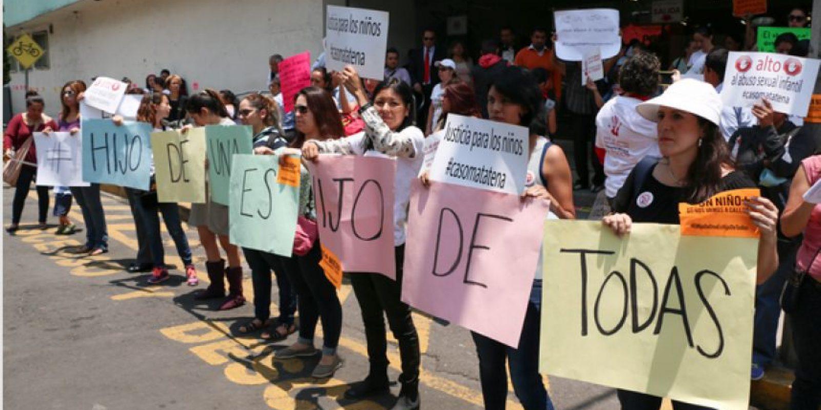 Los padres de las víctimas se manifestaron a las afueras de la PGJCDMX la semana pasada. Foto:Cuartoscuro