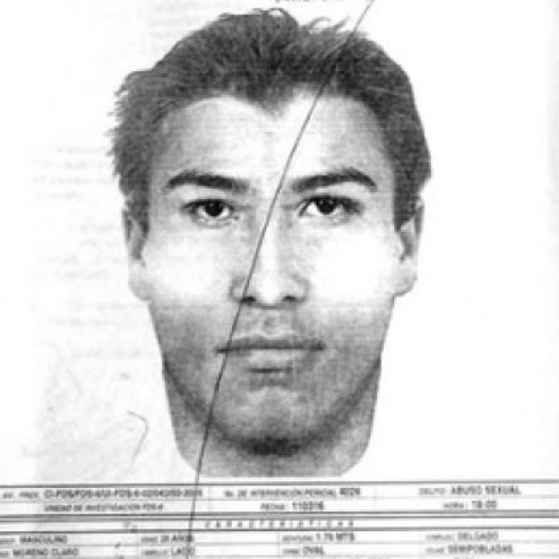 Retrato hablado del presunto agresor Foto:Internet
