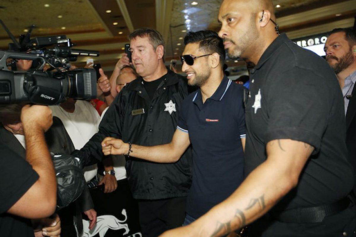 """Canelo"" y Khan ya están en Las Vegas Foto:AP"