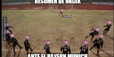 Con Oblak atajando todos los disparos del Bayern. Foto:memedeportes.com