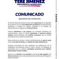 Teresa Jiménez también emitió un comunicado al respecto Foto:twitter