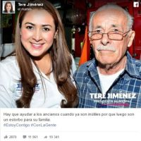 Mensaje que supuestamente envió Teres Jiménez Foto:Twitter