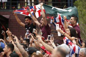 """""""Canelo"""" y Khan cumplen con el peso pactado Foto:AP"""