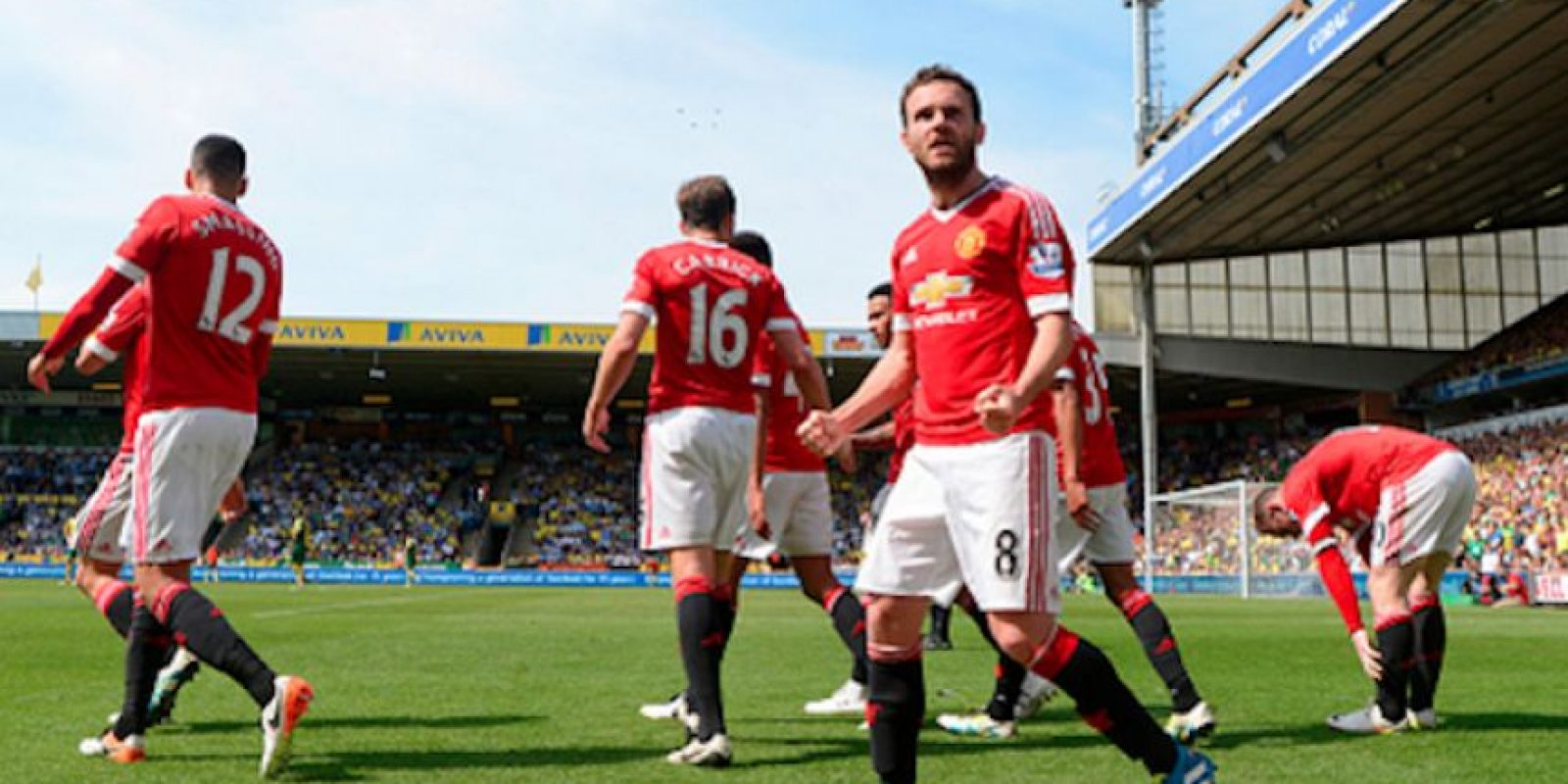 El español Juan Mata firmó el gol del triunfo para los 'Red Devils'. Foto:Getty Images