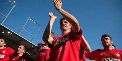Los pupilos de pe Guardiola festejaron en la cancha del Ingolstadt. Foto:Getty Images