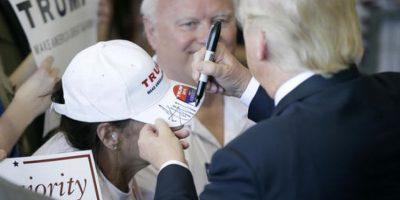 Trump es el unico candidato republicano en la carrera por la presidencia. Foto:AP