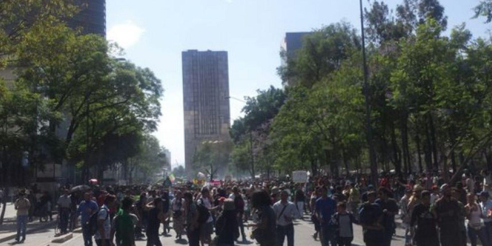 La marcha también se lleva a cabo en las capitales de países como Argentina y España Foto:@SeGobCDMX