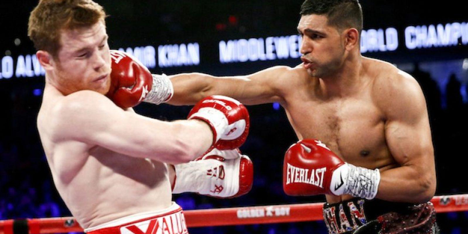 """VIDEO: """"Canelo"""" Álvarez vence a Khan con tremendo nocaut Foto:AP"""