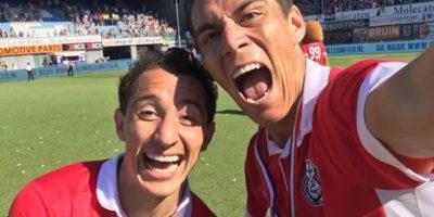 """Los mexicanos compartieron esta fotografía tras confirmarse el campeonato de los """"Granjeros"""". Foto:Twitter"""