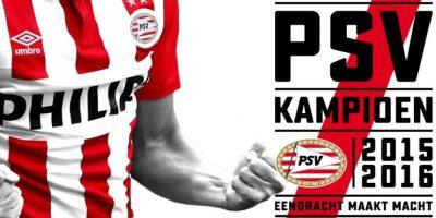 Así anunció el PSV en Twitter la conquista de la Eredivisie. Foto:Twitter