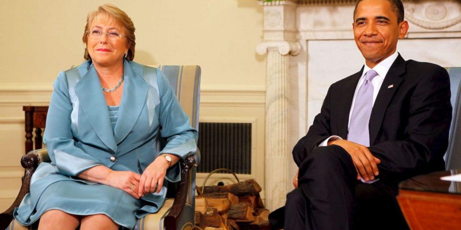 La presidenta de Chile tiene tres hijos. Foto:Getty Images