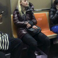 Fue captada en el metro de Nueva York Foto:Grosby Grouo