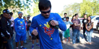 """""""Pacman"""" se retiró del boxeo el pasdo 9 de abril"""
