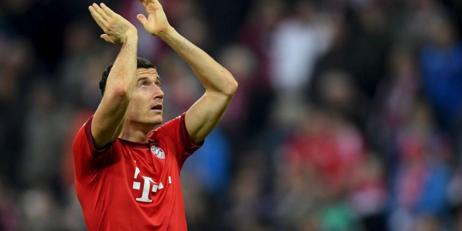 El polaco aspira a meterse al podio, pero el primer lugar ya es lejano. Tiene 29 goles y 58 puntos Foto:Getty Images