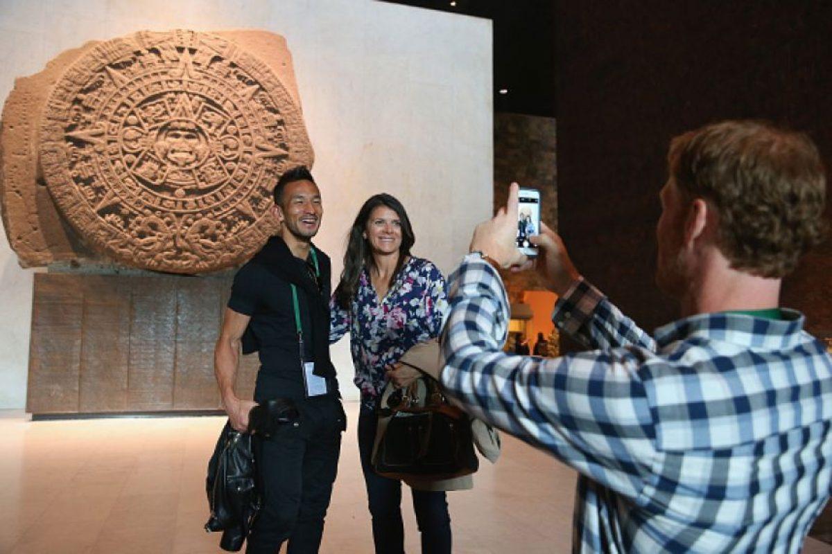 Hidetoshi Nakata y Mia Hamm Foto:Getty Images