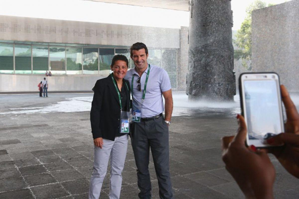 Sissi y Luis Figo