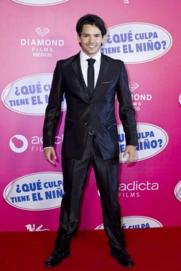 Ricardo Abarca, protagonista de la cinta, estaba feliz en el estreno. Foto:JDS