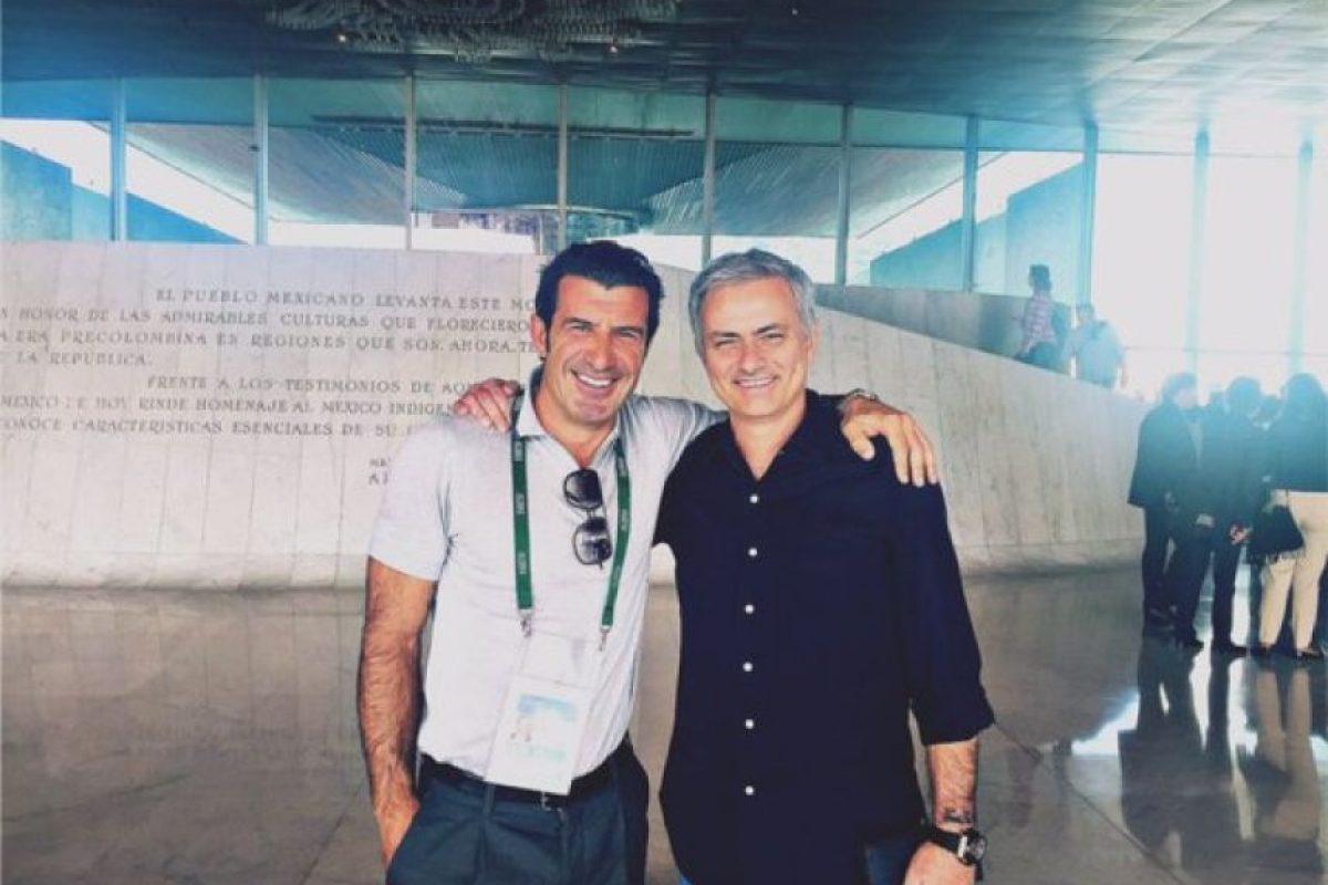 Luis Figo Y José Mourinho Foto:Twitter