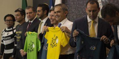 Miguel Mancera presentó la Etapa CDMX by Le Tour de France. Foto:Cuartoscuro