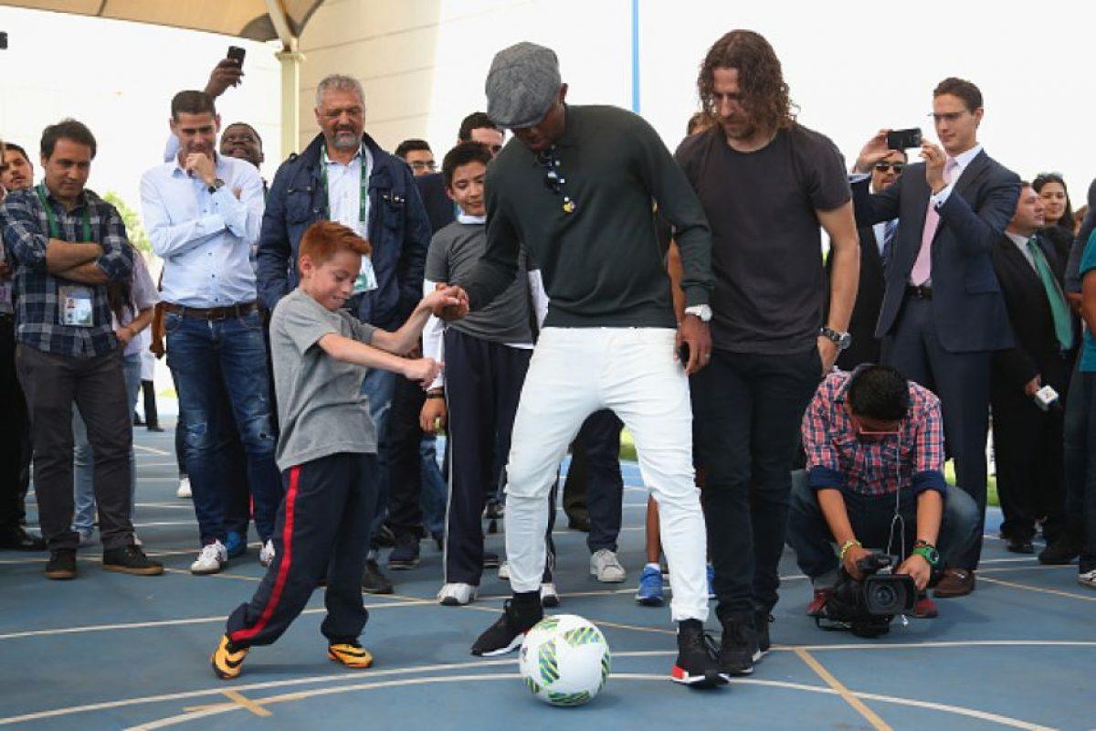 Samuel Eto'o y Carles Puyol Foto:Getty Images