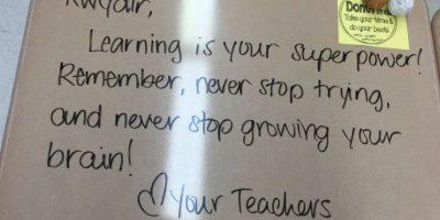 En cada mensaje la profesora Langford les pide principalmente esforzarse y nunca dejar de aprender. Foto:Woodbury City Public Schools