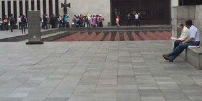 Los familiares se manifestaron afuera de las instalaciones de la cancillería Foto: @ Omarel44