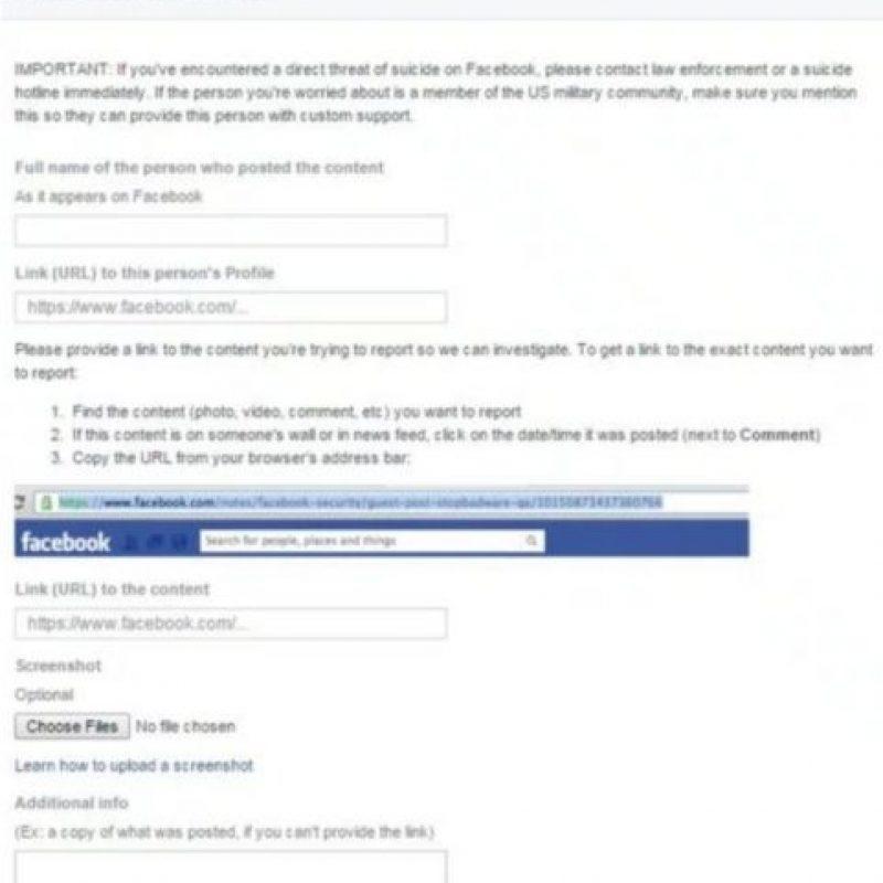 """De acuerdo con la """"BBC"""", el objetivo de Facebook es proporcionar asesoramiento y apoyo. Foto:vía Facebook"""
