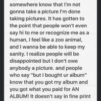 Informó a sus fans que no se tomará más fotos con ellos Foto:Vía Instagram/@justinbieber