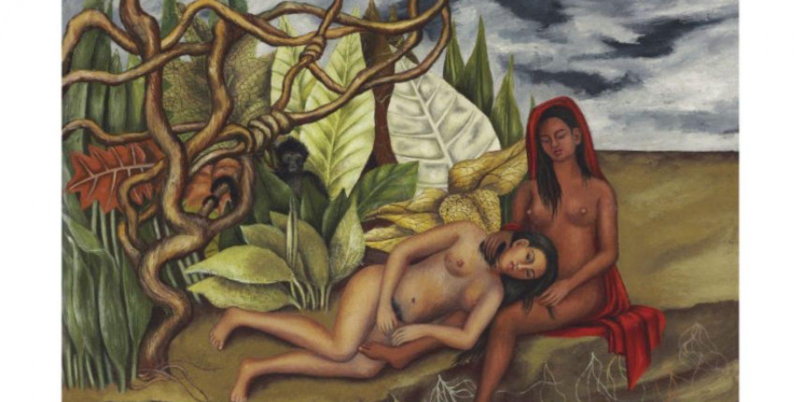 La obra muestra a dos mujeres desnudas descansando en un bosque Foto:AP