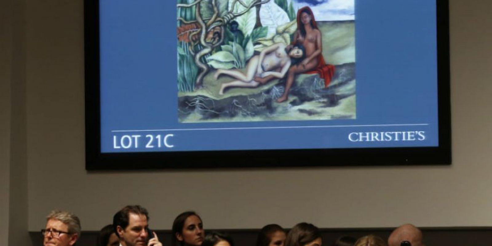 La artista le obsequió la obra de 1939 a su compatriota Dolores del Río Foto:AP