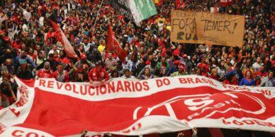 """Los manifestantes señalaron que no reconocerán la """"legitimidad"""" del Gobierno de Temer Foto:AP"""