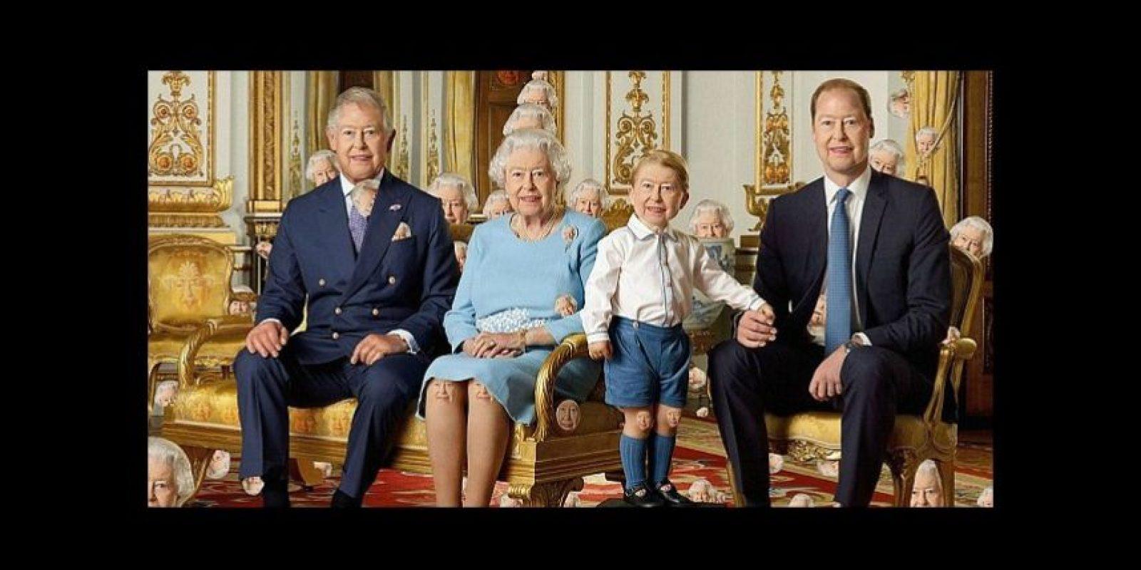 ¿Pueden ver las 90 caras de la reina Isabel II? Foto:Twitter