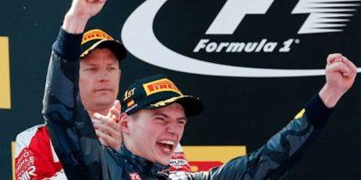 Max Verstappen se lleva la carrera y se convierte en el más joven en ganar un Gran Premio. Foto:AP