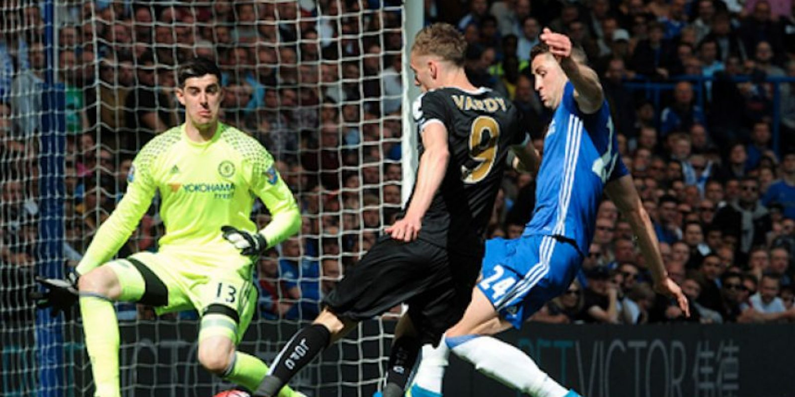 Jamie Vardy no pudo anotar el gol que lo convirtiera en la Bota de Oro de la Premier League. Foto:Getty Images