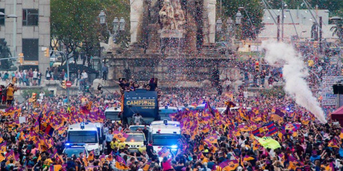 Barcelona celebra el título con su gente