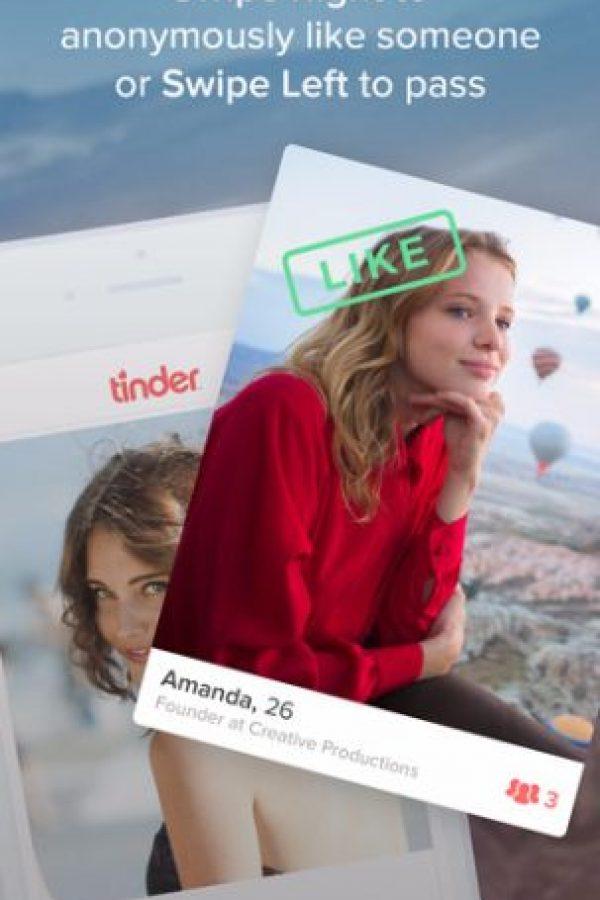 Esta aplicación se usa principalmente para encuentros románticos. Foto:Tinder